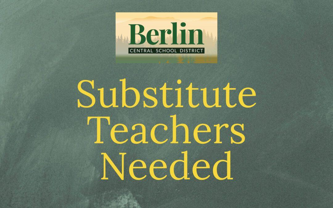BCSD Is Currently Seeking Substitute Teachers