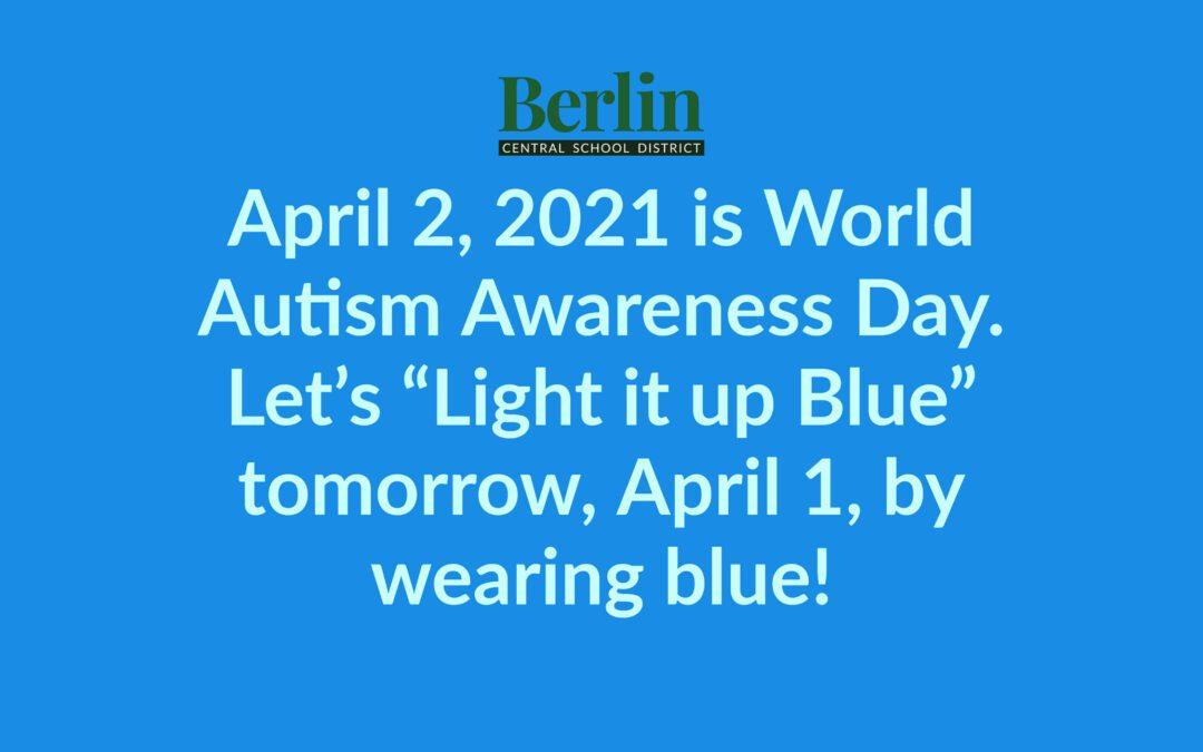 """BCSD Let's """"Light it up Blue"""""""