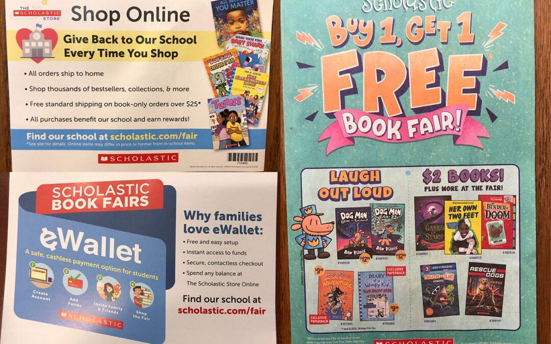 BES Announces Buy 1, Get 1 Scholastic Book Fair 6/1-6/2