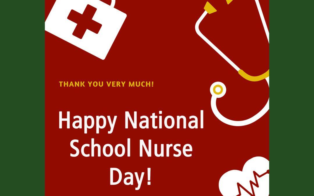 Thank You to Our School Nurses!