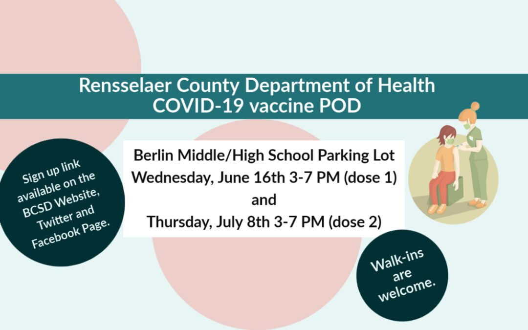 Rensselaer County Department of Health Announces Local COVID-19 Vaccine POD