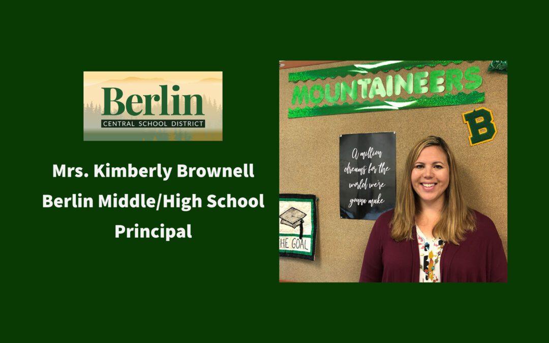 Meet Mrs. Brownell BMHS Principal