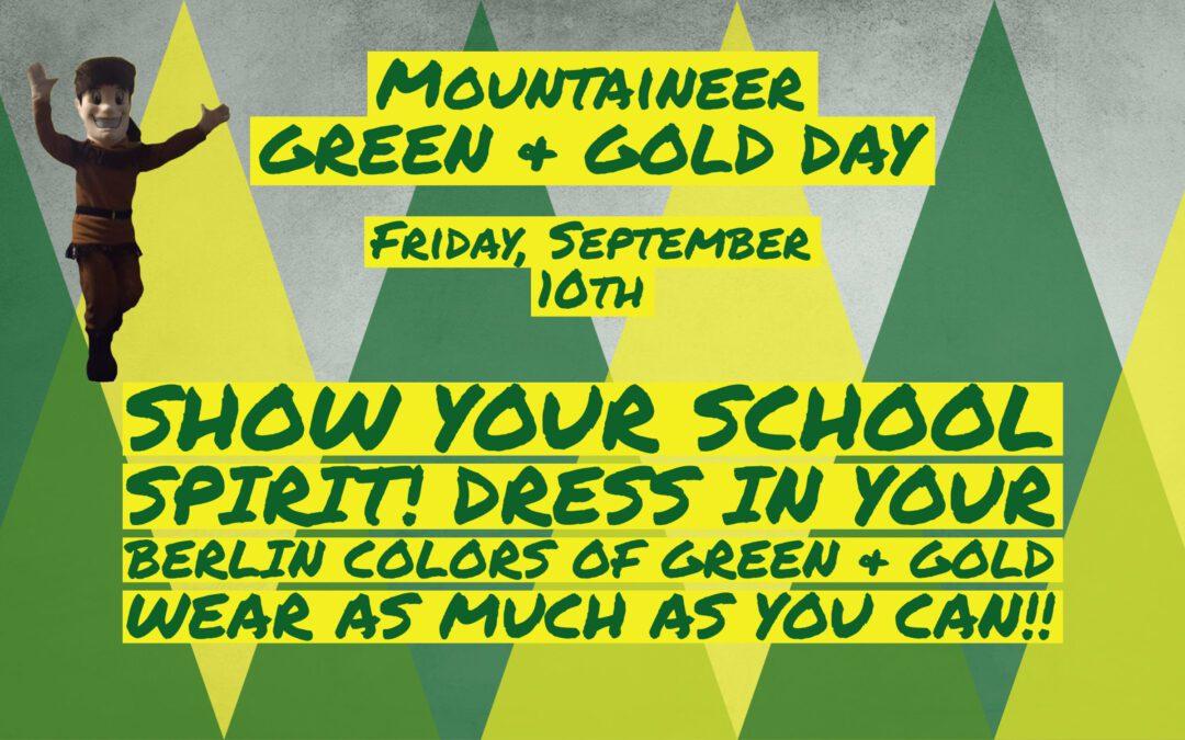 REMINDER: School-wide Spirit Day Tomorrow 9/10