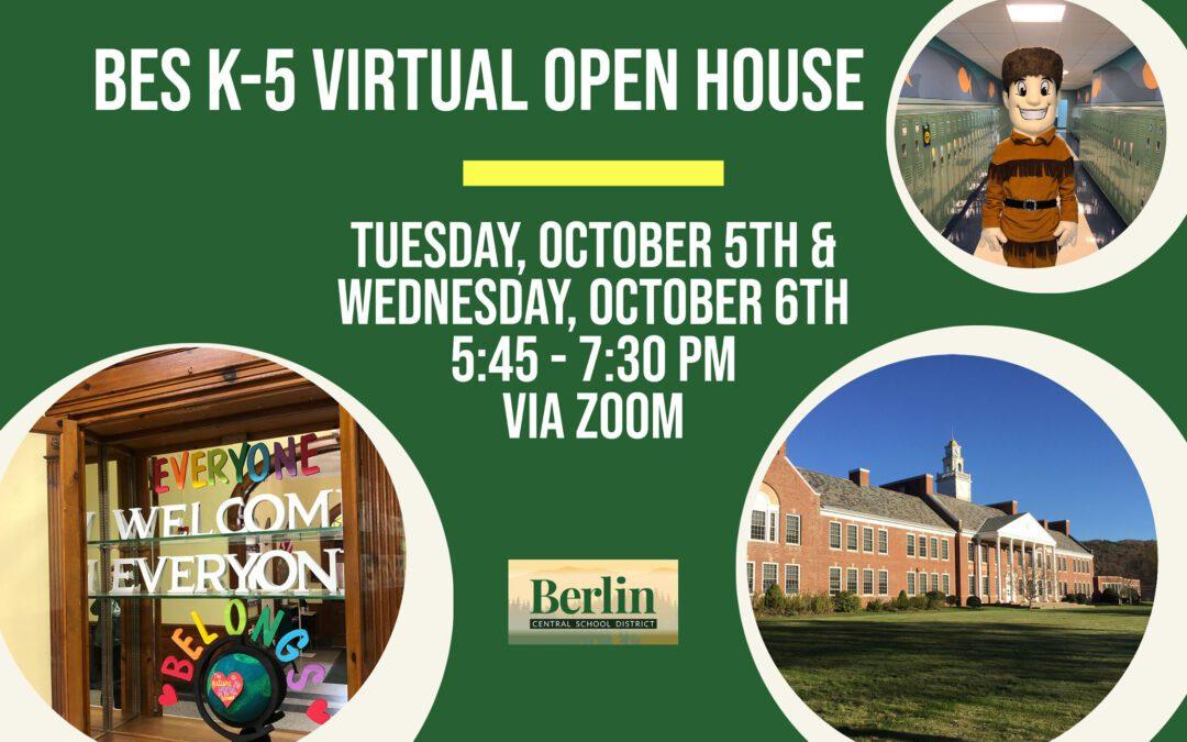 BES Announces K-5 Virtual Open House