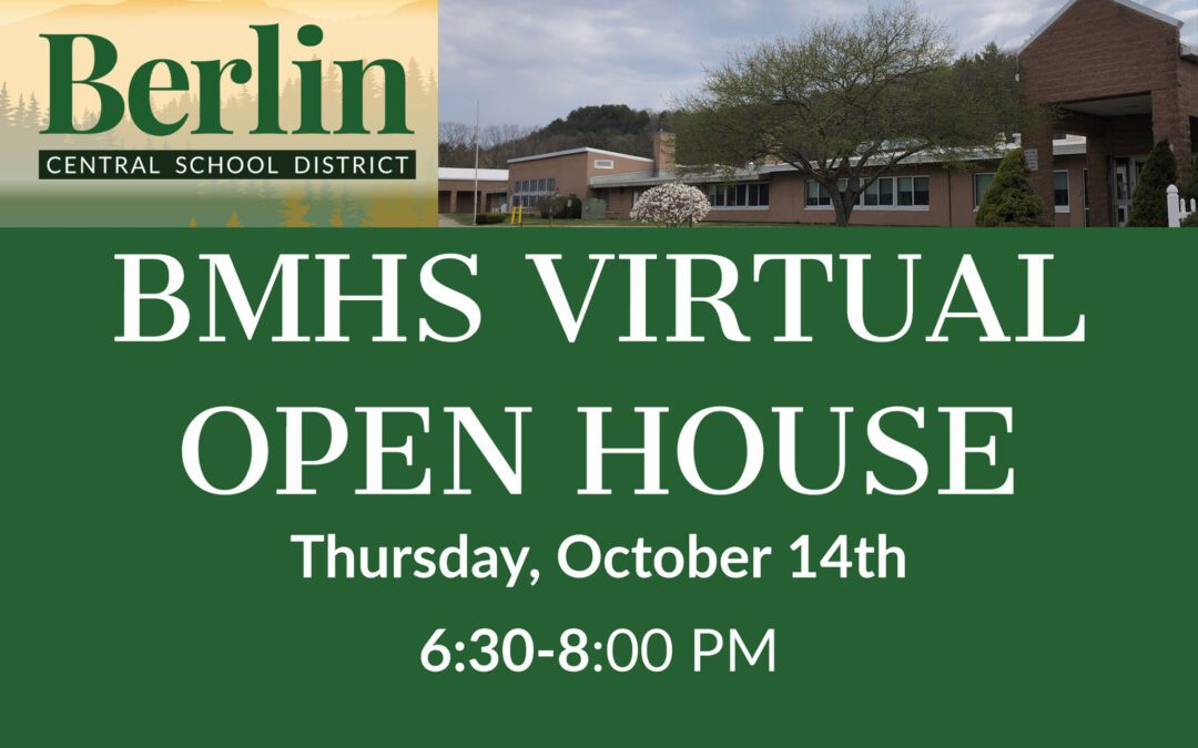 REMINDER: The BMHS Virtual Open House Is Tonight 10/14