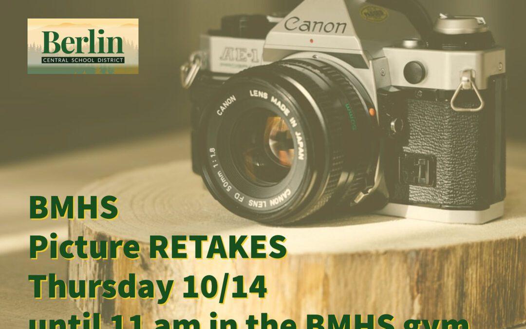 BMHS Picture Retake Information