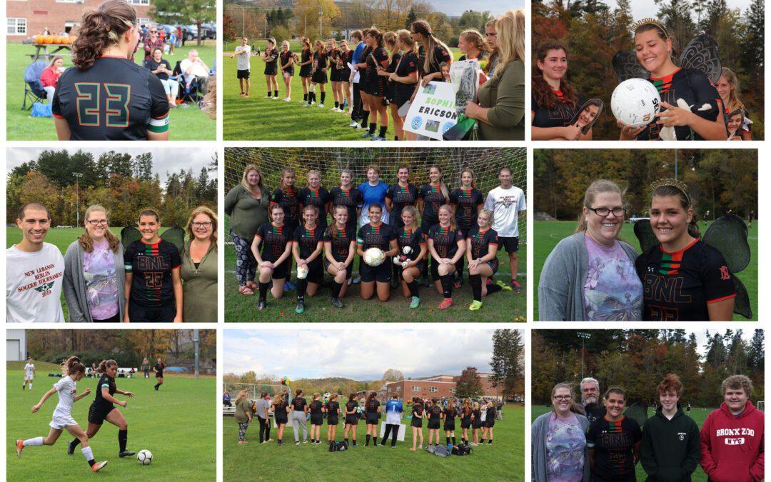 BNL Girls Varsity Soccer Senior Night vs Cambridge 10/16