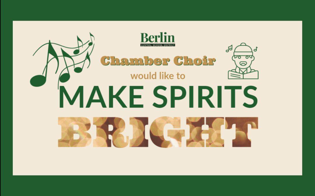Chamber Choir & Select Instrumentalists Announce Caroling Fundraiser